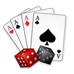 Cards Dice Casino Poker Player Blackjack Car Vinyl Sticker - SELECT ...