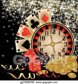 Vector Illustration - Merry christmas casino wallpaper ...