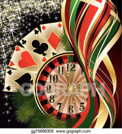 EPS Vector - Christmas casino banner with poker . Stock ...