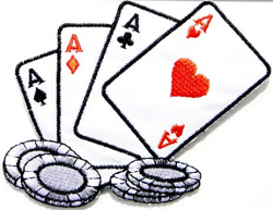 Amazon.com: Chip Poker Ace of Spades Dice Gambling Playing Card ...