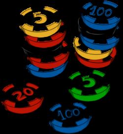 Casino Chips Clip Art at Clker.com - vector clip art online, royalty ...