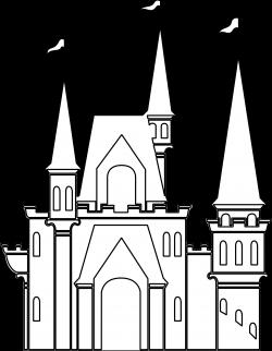 Castle Black And White Clipart