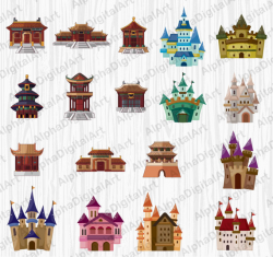 18 Castle Clipart,Medieval Castle,Medieval Palace Clipart,Chinese ...