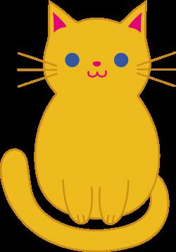 Fat Cat Clip Art | Cute Orange Kitten Clip Art | Cats | Pinterest ...