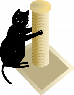 Clipart - Cat and Scratching Post