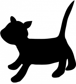 Running Cat Silhouette at GetDrawings.com | Free for personal use ...