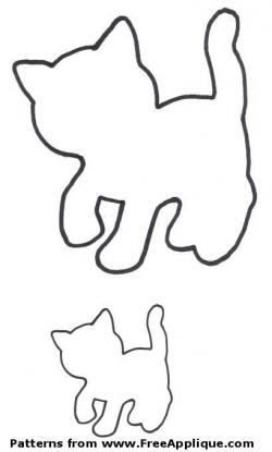 14 Cat Patterns - Free Applique Patterns