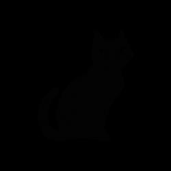 Black Cat Silhouette | Silhouette of Black Cat