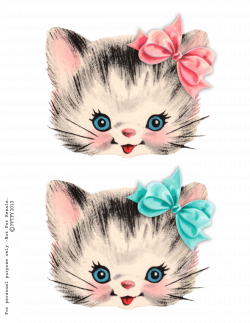 free clip art   Clip art, Kitty and Vintage