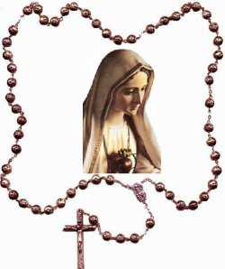 Our Lady Of The Rosary Clipart