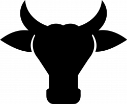 Clipart - Cow Head Silhouette