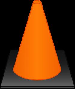 Orange Traffic Cone - Free Clip Art