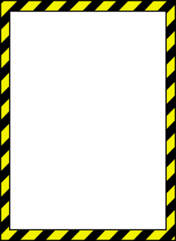 caution tape clip art | Vector image of caution style border ...