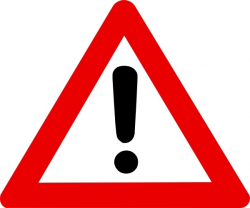 Warning Sign clip art Free vector in Open office drawing svg ( .svg ...