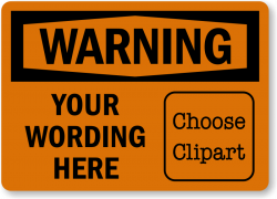 Custom Warning Labels | Designs with Picto, QR Code or Text only