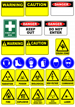 Clipart - safety signs