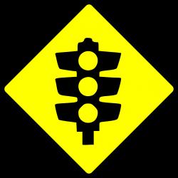 Clipart - caution-traffic lights