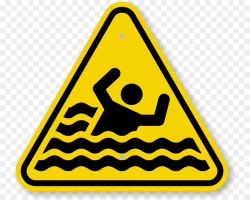 Warning sign Drowning Symbol Clip art - Caution Triangle Symbol png ...