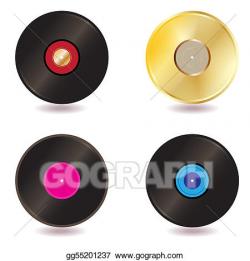 Stock Illustration - Vinyl lp vintage discs. Clipart Drawing ...