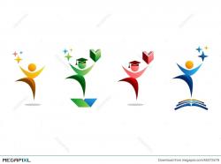 Education, Logo, People, Celebration, Student And Book Symbol Icon ...