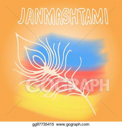 Stock Illustrations - Happy janmashtami. indian fest. dahi handi on ...