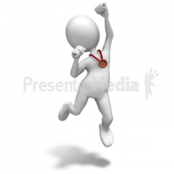 Bronze Medal Celebrate - Sports and Recreation - Great Clipart for ...