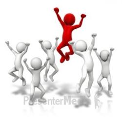 jump around and celebrate