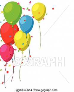 EPS Vector - Celebrate background with flat balloons. Stock Clipart ...