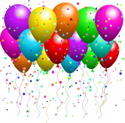 Clipart Illustration of a Bunch Of Floating Party Balloons With |