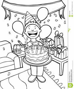 Birthday Celebration Black And ... Clipart