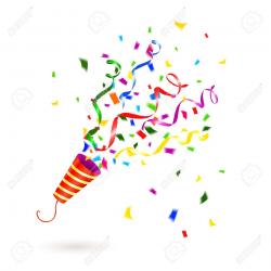 Confetti clipart party popper - Pencil and in color confetti clipart ...