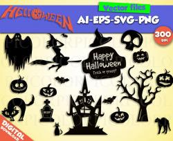halloween svg silhouette halloween clipart halloween party halloween ...