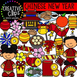 Chinese New Year Celebration Clipart {Creative Clips Clipart} | TpT