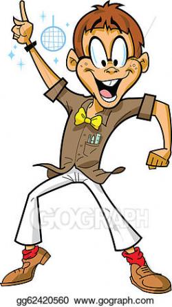 Vector Art - Disco boy. Clipart Drawing gg62420560 - GoGraph