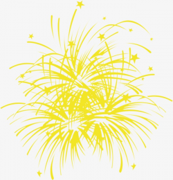 Celebrate The Yellow Fireworks, Celebrate, National Day, Yellow PNG ...