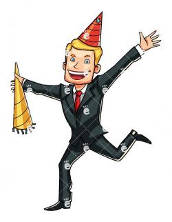 A Celebrating Young Businessman - FriendlyStock.com