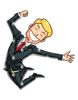 A Man Mid Jump, Feeling Euphoric - FriendlyStock.com