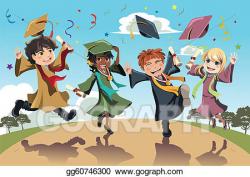 Vector Clipart - Graduation celebration. Vector Illustration ...