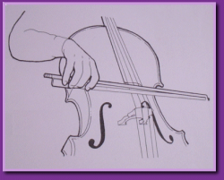 Cello Bow Hold - Cello UK - Bass Clef Strings.