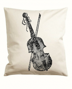 Violin and Bow Vector Clipart Graphic instant Download, Bass Cello ...
