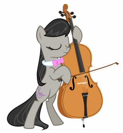 Octavia with a realistic cello by Soriokink on DeviantArt