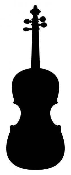 Violin Silhouette 2 Clipart - Design Droide