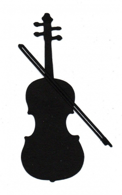 Violin or Cello Silhouette die cut for scrap booking or card making ...