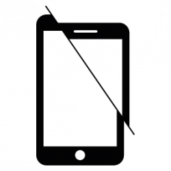 Broken Cellphone Silhouette | Silhouette of Broken Cellphone