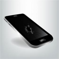 Broken mobile phone Free vector in Adobe Illustrator ai ( .AI ...