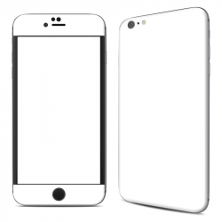 Apple iPhone 6 Plus Skin - Solid State White by Solid Colors   DecalGirl