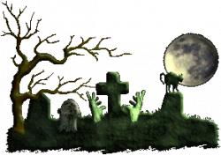 Scary Cemetery Clipart