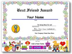 Personalized Award Certificate PC Program from Billy Bear ...