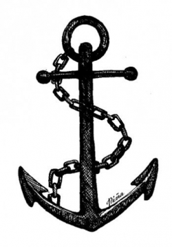 Anchor drawing with chain. Photo from www.pinastyles.com | Anchors ...