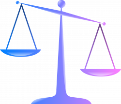 Clipart - Scales of Justice (Colored Glassy Effect Derivative)